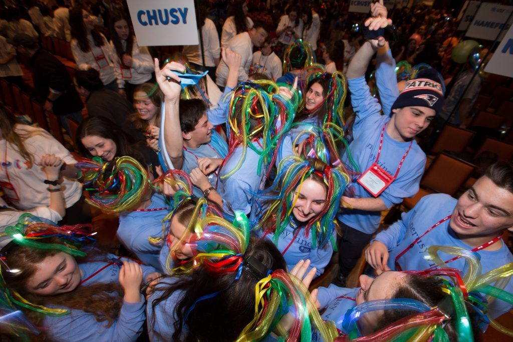 USY Opening Session convention teens celebrating