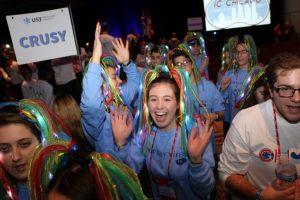 Jewish teens having fun at USY International Convention